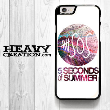 5 Second Of Summer Collage for iPhone 4 4S 5 5S 5C 6 6 Plus , iPod Touch 4 5  , Samsung Galaxy S3 S4 S5 S6 S6 Edge Note 3 Note 4 , and HTC One X M7 M8 Case