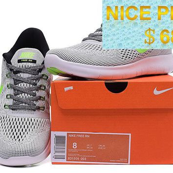 Where To Buy Nike Free RN Wolf Grey Poison Green shoes