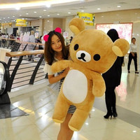 60cm Kawaii big brown japanese style rilakkuma plush toy teddy bear stuffed animal doll birthday gift free shipping