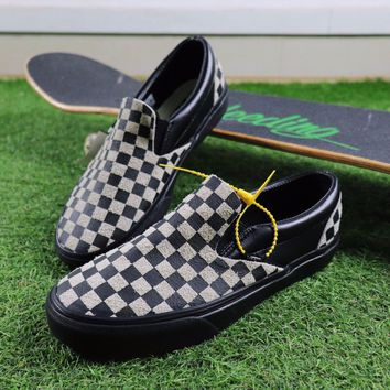 Sale Vans Vault x N.Hoolywood Slip On Black White Chekerboard Sneakers