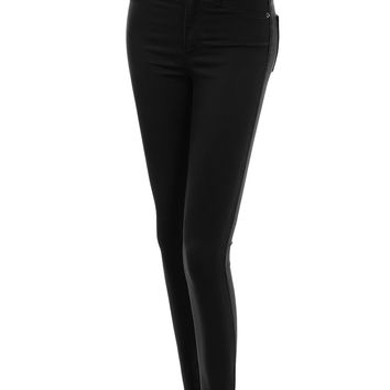 Womens Premium Fitted High Waisted Skinny Jean Pants With Stretch
