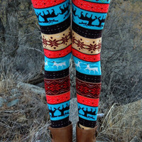 Caribou Crossing Leggings - VIRGINIA FIELDS