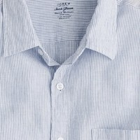 Baird McNutt linen shirt in slim stripe - J.Crew