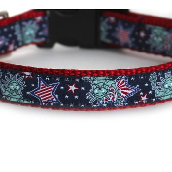 Lady Liberty Dog Collar