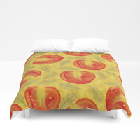 tomato pattern Duvet Cover by Berwies