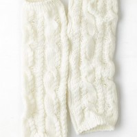 AEO Women's Cable Knit Legwarmer (Cream)
