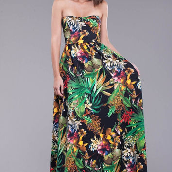 The Forbidden Fruit Strapless Maxi Dress