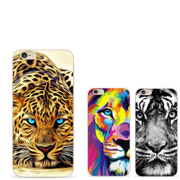Black white lion For iPhone 4 5 5S SE 6 6S 7 Plus Case For Samsung Galaxy S5 S6 S7 Edge J3 J5 A3 A5 2016 Core Grand Prime Coque