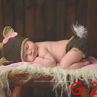 Newborn Baby Girls Boys Crochet Knit Costume Photo Photography Prop = 4457519556