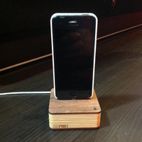 ThePort Wood iPhone 5 Charging Dock and Catch All