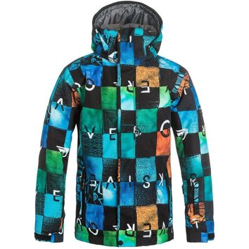 Quiksilver Boy's Snowboard Jacket Mission Printed