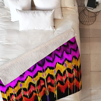 Holly Sharpe Navajo Haven Fleece Throw Blanket