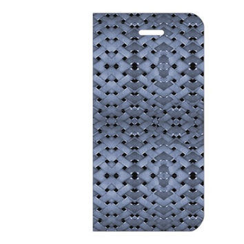 Futuristic Geometric Pattern Design Print in Blue Tones Apple iPhone 6 Leather Folio Case