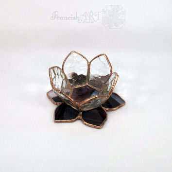 Stained glass candle holders (small size), Tiffany technique