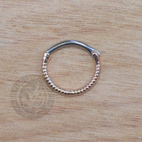 Rose Gold Roped Steel Septum Clicker