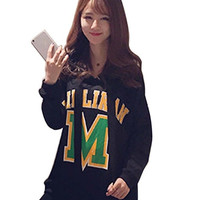 Fashion Women Casual Korean Style Print Long Sleeve Spring Autumn Hoodies = 1838546756