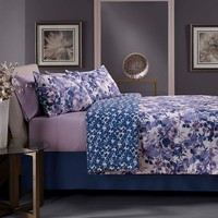 City Scene Grove Hill Silhouette 4-pc. Reversible Comforter Set (Purple)