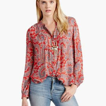 Textured Paisley Top | Lucky Brand