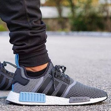 """Best Online Sale Adidas NMD R1 Core Grey Blue City Pack """"Argentina""""  S79159 Boost Sport Running Shoes Classic Casual Shoes Sneakers"""