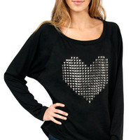 Cyber Love Raglan Terry Top $35