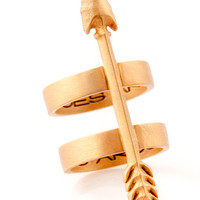 WHAT GOES AROUND ARROW RING by natalia benson