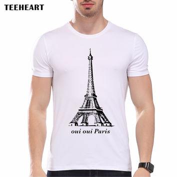 New Paris Eiffel Tower O Neck Short Sleeve France Printed men's Casual T-shirt Male Summer Vintage Tops tee