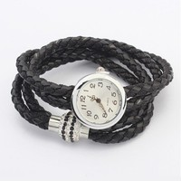 Vintage Braided PU Watch - OASAP.com