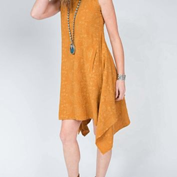 Uncle Frank Sleeveless Gold Dress by Ivy Jane