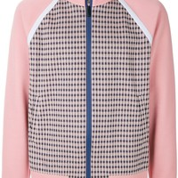 Flamingo Pink and Navy Embroidered Track Jacket by Fendi