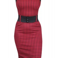 Switchblade Stiletto Women's Red Gingham Darling Dress