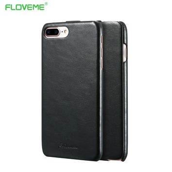 FLOVEME Cases For iPhone 7 7 Plus Crazy Horse Pattern Leather Cover Flip Case Shell For iPhone 7 Plus Retro Coque Accessories