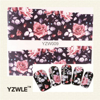 1 Sheet Chic Flower Nail Art Water Decals Transfer Stickers Splendid Water Decals Sticker