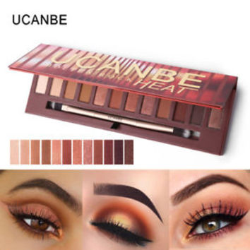 12 Colors Molten Rock Heat Eye Shadow Palette Shimmer, High pigment Eyeshadow