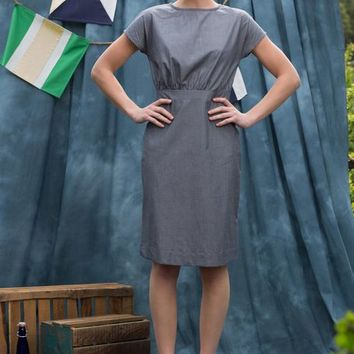 Sawyer Boatneck Dress Grey