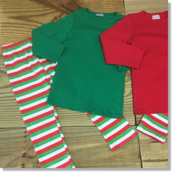 Adult Green Christmas Pajamas