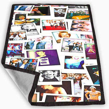 one direction polaroids Blanket for Kids Blanket, Fleece Blanket Cute and Awesome Blanket for your bedding, Blanket fleece *