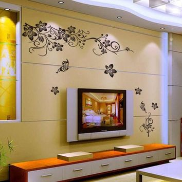 DCCKU7Q Hee Grand Removable Vinyl Wall Sticker Mural Decal Art - Flowers and Vine