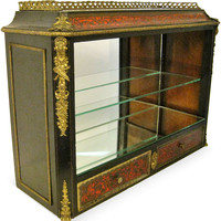 Nap III Boulle-Work Mirrored Cabinet