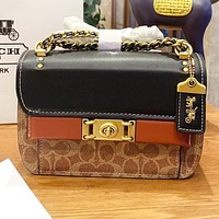 COACH Fashion New Pattern Leather Shopping Leisure Chain Shoulder Bag Crossbody Bag