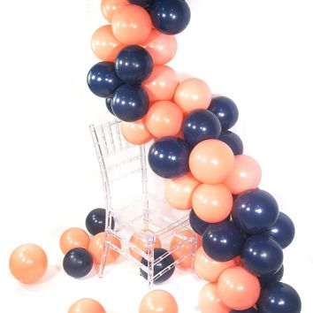 Party Balloons, 80 pcs 12 Inch Navy Blue Balloons Coral Balloons Peach Balloons Blush Balloons, Navy Party Decorations, Coral Birthday Decorations, Peach Wedding Decorations, Blush Decor