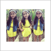 Girls Sleeveless Yellow Dress