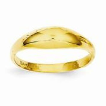 14k Yellow Gold Childs Polished Dome Ring