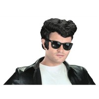 Greaser Wig Adult 1950's Rockabilly Pompadour Fonz Halloween Costume Accessory