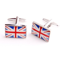 Dashing Cuff Links with Personalized Case - British Flag