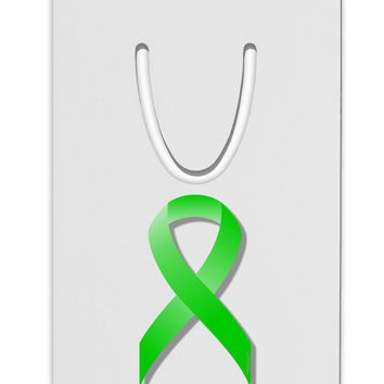 Lyme Disease Awareness Ribbon - Lime Green Aluminum Paper Clip Bookmark