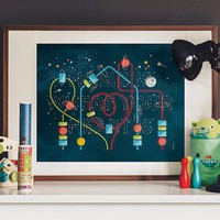 Home Is Where Your Heart Is Glow In The Dark Print - $65