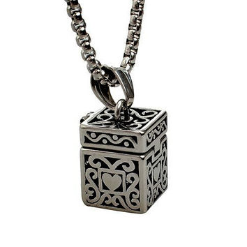 """Cremation Urn Ash Holder Necklaces Jewelry Ashes Memorial Pendant 24"""" chain"""