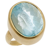 Blue Topaz Reverse Cut Ring