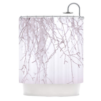 "Monika Strigel ""Frozen"" White Shower Curtain"