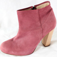 "~~ TOOOOOTAL-SCORE ~~ THE PERFECT A.P.C. APC DUSTY ROSE SUEDE ""ANKLE"" BOOTS ~ 40"